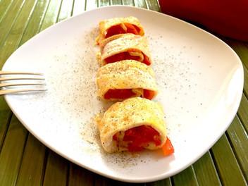 Involtini di uova ai peperoni