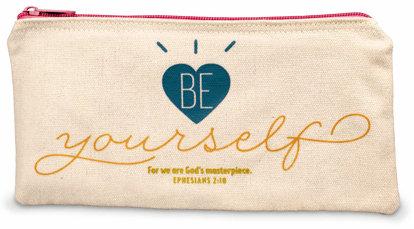 Canvas Zip Bag - BE YOURSELF - 51214