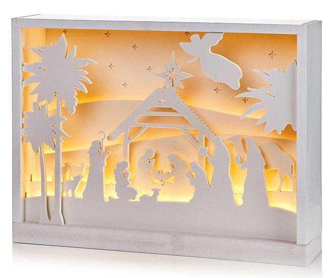 Christmas - Large LED Silhouette Light Nativity  - PLB202062