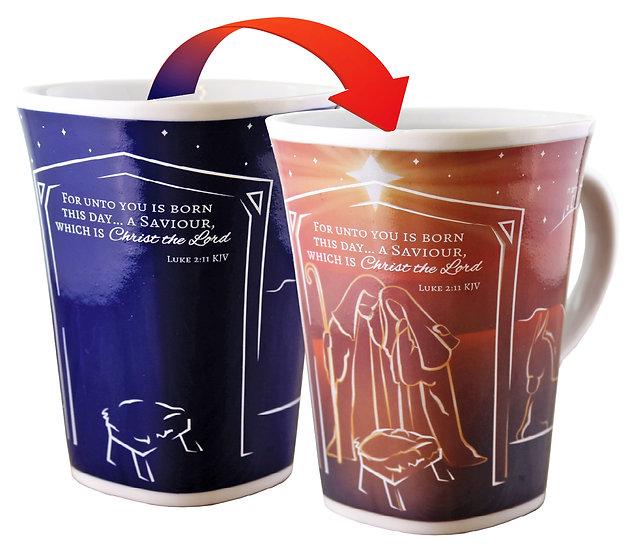 Christmas Porcelain Colour Change Mug - NATIVITY - T1726