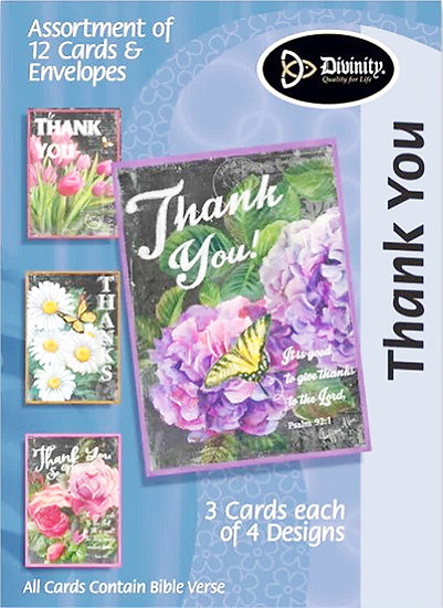 Boxed Greeting Cards - THANK YOU - D27208