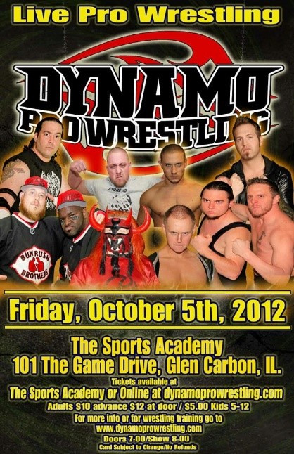 """The Wind of Destruction"" vs. ""The Midwest Messiah K.C. Karrington (Promotional poster courtesy of Dynamo Pro Wrestling)"
