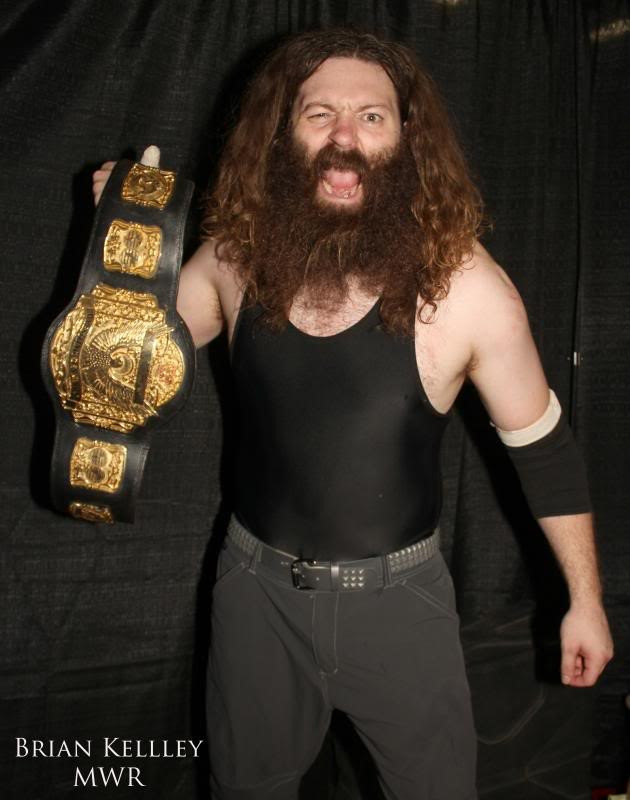 """DirdEY"" Jake Dirden holding the Dynamo Pro Wrestling heavyweight championship (Photo courtesy of Dynamo Pro Wrestling)"