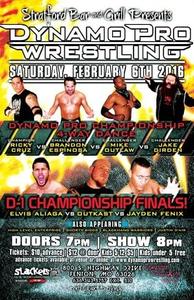 "(""The Filipino Warrior"" Elvis Aliaga vs. Outtkast vs Jayden Fenix - February 6th, 2016 Promotional Flyer –  Courtesy of Dynamo Pro Wrestling)"