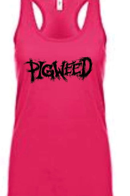 Pigweed Logo Pink Female Tank Top