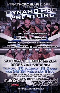 Dynamo Pro Wrestling – Cruz vs. Outlaw – December 6th, 2014 (Promotional poster courtesy of Dynamo Pro Wrestling)