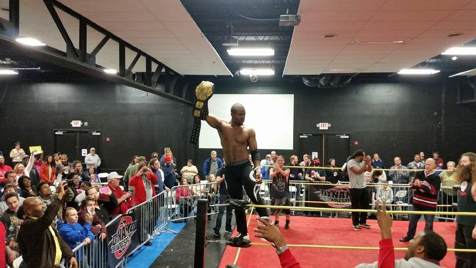 Mike Outlaw makes history by becoming the Dynamo Pro Wrestling heavyweight champion (Photo courtesy of Dynamo Pro Wrestling)