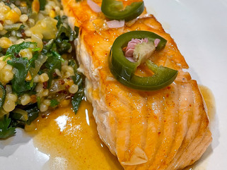 Chili-Lime Caramel Glazed Salmon