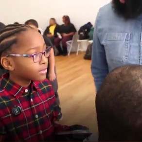 8 Year Old Barber Gives Free Haircuts