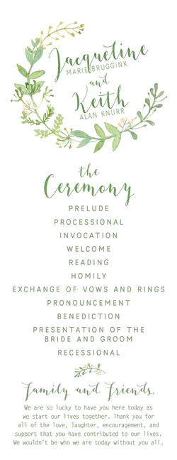 Bruggink_Wedding_Program