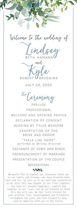 Hamann-Bruggink_Wedding_Program