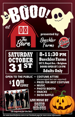 Buechler Farms Boo at the Barn poster