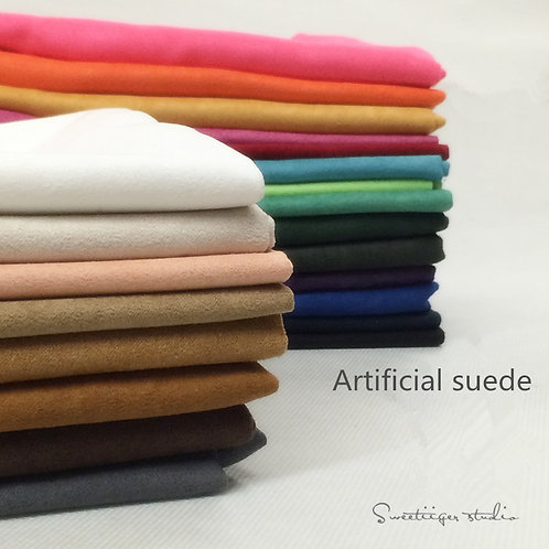 50 *70 cm Artificial suede doll clothes fabric 22 colors