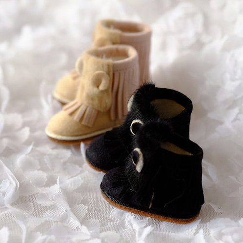 1/6 BJD shoes fur bear ears boots