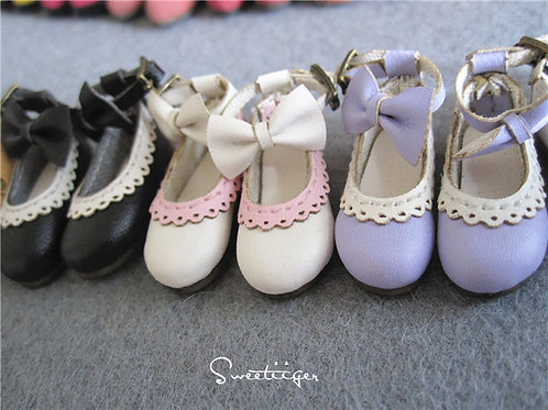 "12""Blythe/Pullip/mmk/JerryB shoes lace & bows"