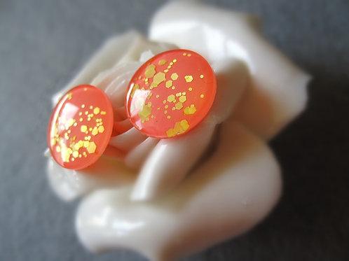 hand made sparkle orange Blythe eye chips