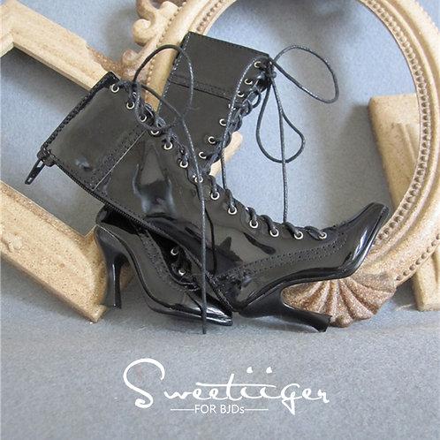 1/3 BJD shoes elegant black paint heels boots