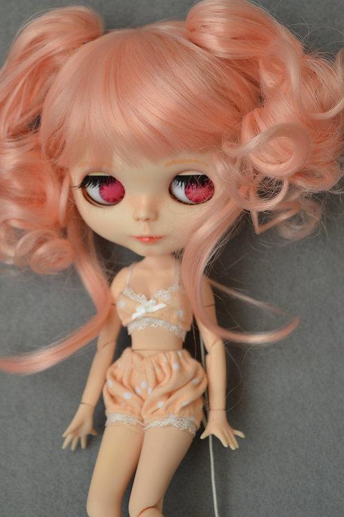 """Blythe/Pullip 8-10"""" Doll wig [Peach soda] 3 ways"""