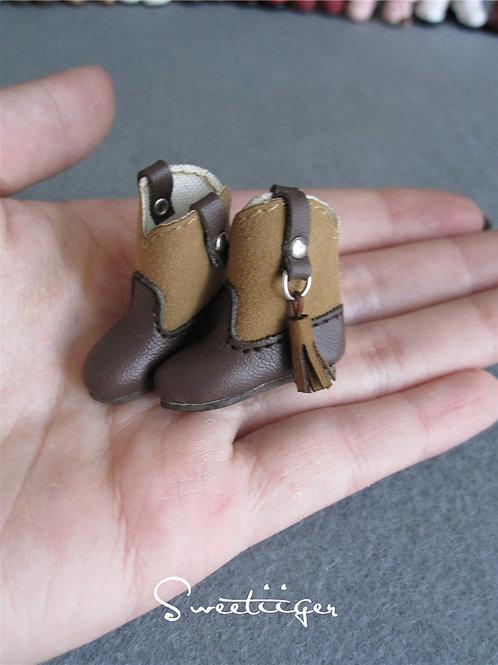 "12""Blythe/Pullip/mmk/JerryB shoes Tassel boots"