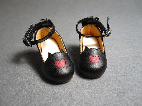 1/6 BJD shoes black cat tail heels shoes