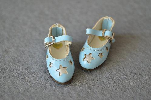 "12""Blythe/Pullip/mmk/JerryB shoes silver stars"