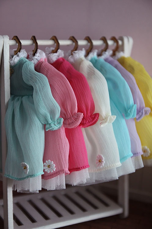 Blythe/Pullip sweet elegant 7 col lace daisy dress