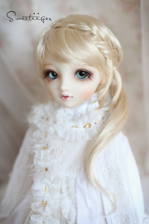 """Manmade-Mohair 6-7"""" 7-8"""" 8-9"""" Doll wig"""