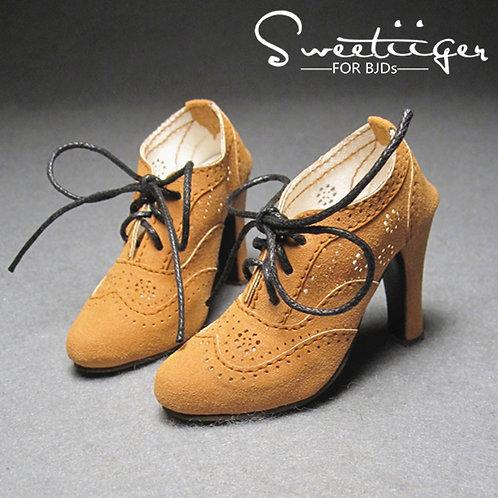 1/3 BJD shoes classic elegant matte brown oxford