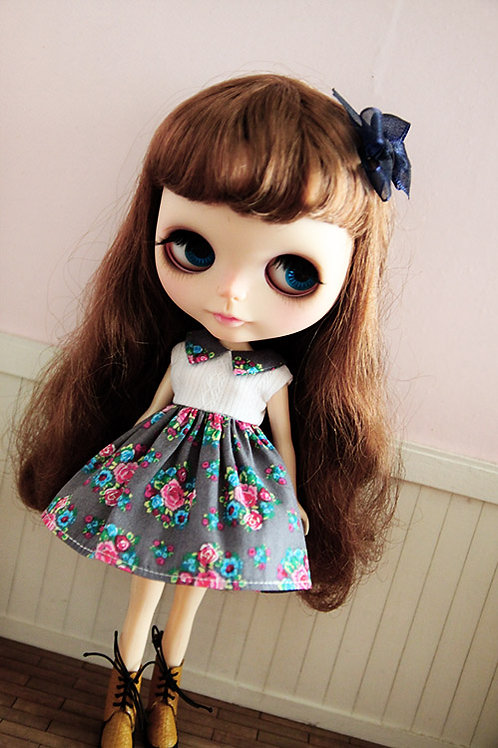 Blythe/Pullip outfit summer rose cute dress