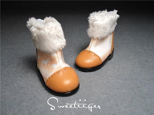 1/6 BJD shoes fur snow boots