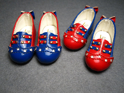 1/6 BJD carved double color circus star shoes