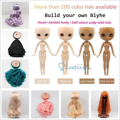 Design your own Blythe ! 4 skin color 100+hair colors