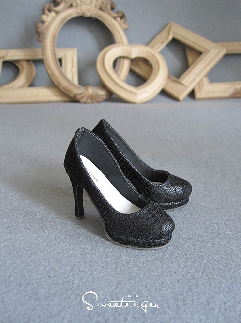 1/3 BJD DOLL shoes classic black lace heels SD16 SD13 SD10 SDGR DD