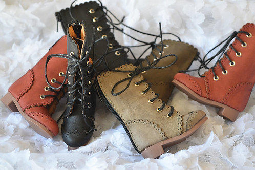 1/4 BJD MSD shoes carved lace boots