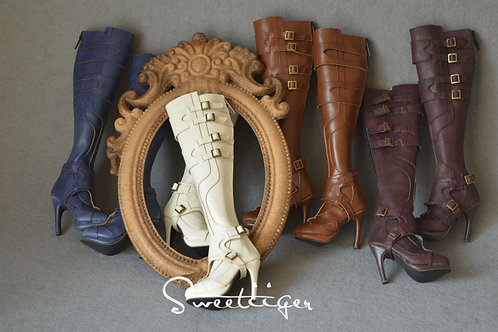 1/3 BJD high heel shoes boots-[Valkyries]