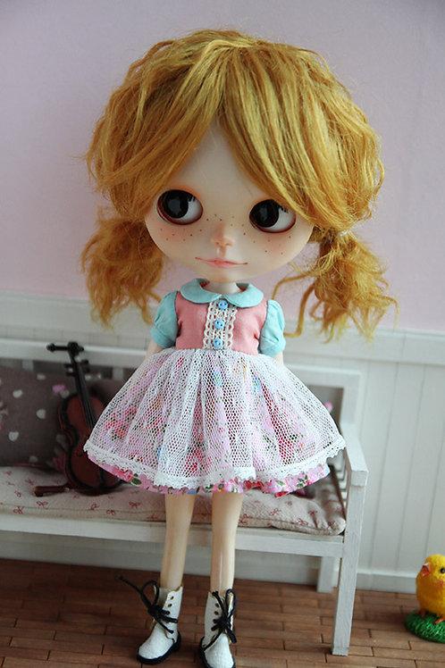 Blythe/Pullip sweet lace flower dress