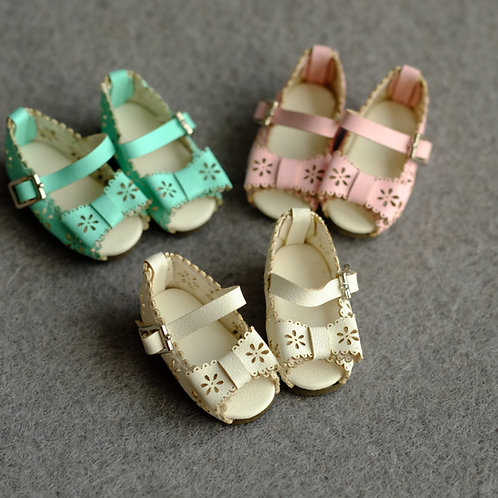 """12""""Blythe/Pullip/mmk/JerryB shoes [leather lace sandals]"""