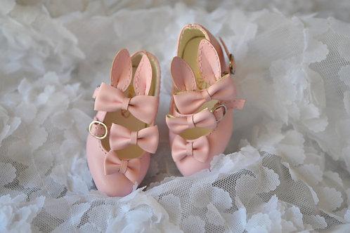 1/4 BJD MSD shoes elegant pink bunny bows shoes