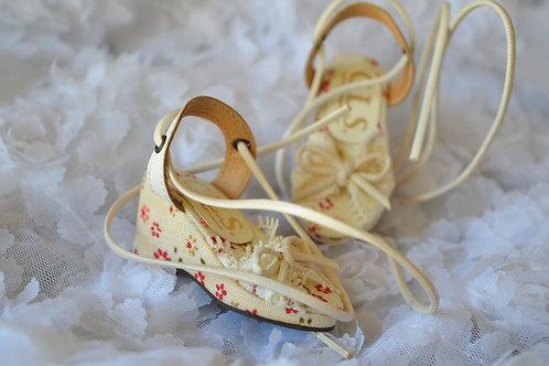 1/4 BJD MSD shoes elegant lace Platform sandals