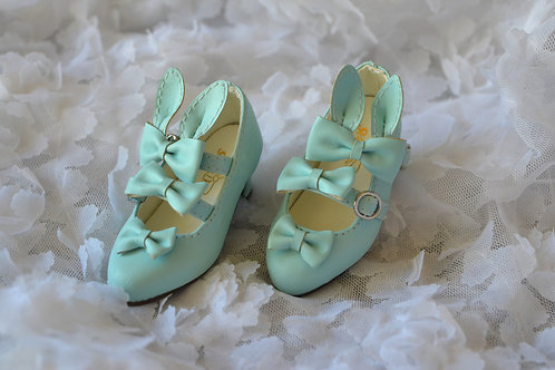 1/4 BJD MSD shoes elegant blue bunny bows shoes