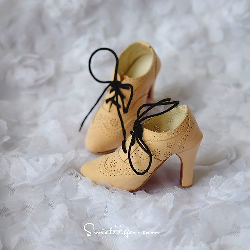 1/3 BJD shoes classic elegant matte nude color