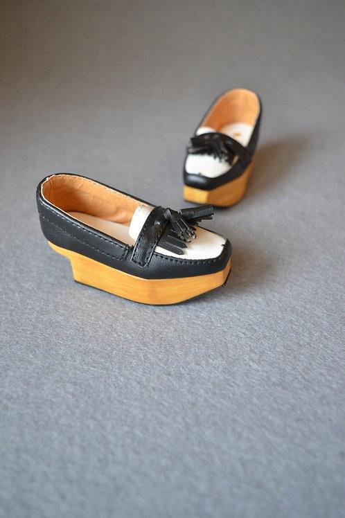 1/3 BJD shoes Square head platform Loafer shoes