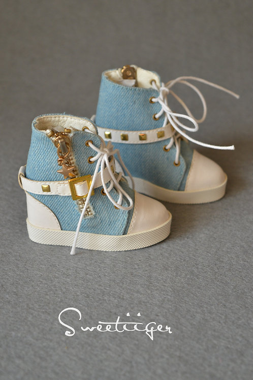 1/3 BJD shoes fashion jeans wedges high heels