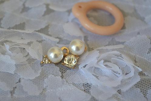 Blythe pull ring noble metal Little diamond 2 sets
