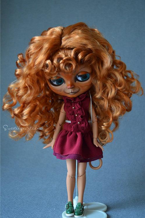 """Blythe/Pullip 8-10"""" Doll fantasy wig [Honey rolls]"""