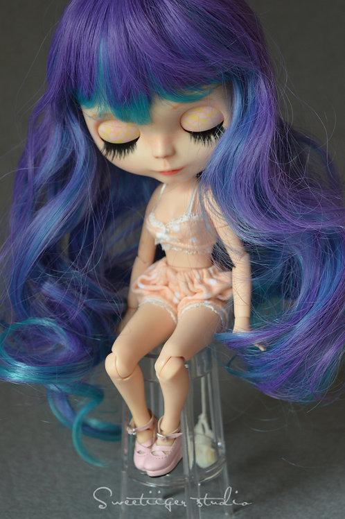 "Blythe/Pullip 8-10"" Doll fantasy wig [grape soda]"