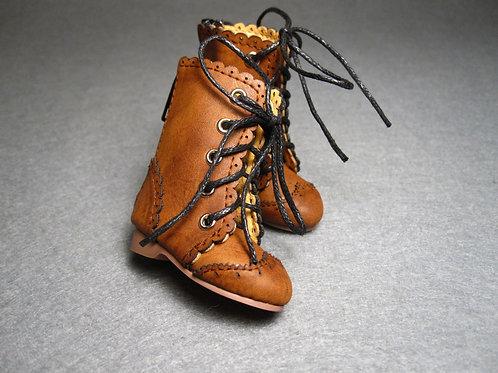 1/6 BJD shoes adorable brown Oxford boots