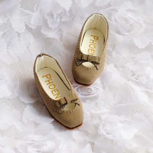 1/6 BJD shoes milk Khaki matte leather shoes