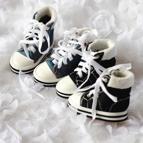 1/6 BJD shoes Denim canvas ports boots
