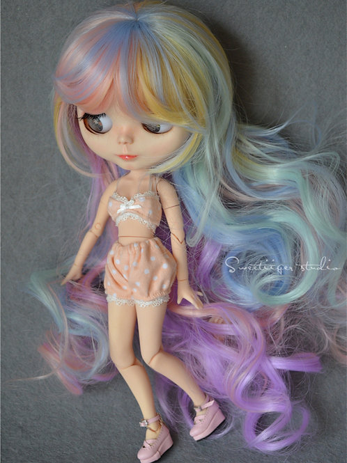 """Blythe/Pullip 8-10"""" Doll fantasy wig [Candy store]"""